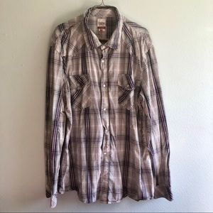 Levi Pearl snap button down! XXL good condition!